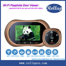 2014 new arrival wifi based door peephole viewer,free driver digital ip camera,smart door eye