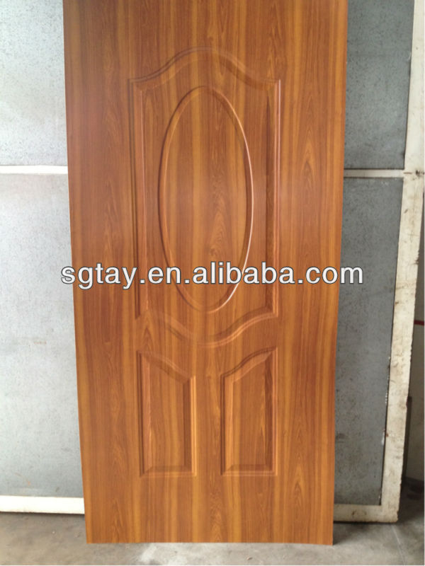 teak colour melamine door skin from professional door skin manufacturer