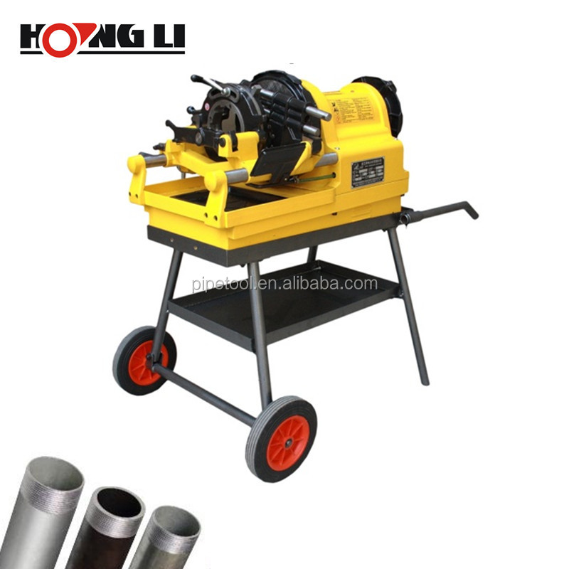 4Inch 750W Used Pipe Threading Machine With Carriage For Sale