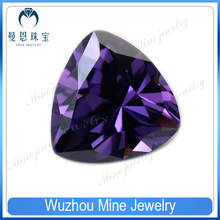 amethyst color cubic zircon loose gems stoned size 6*6mm trillion shape cz