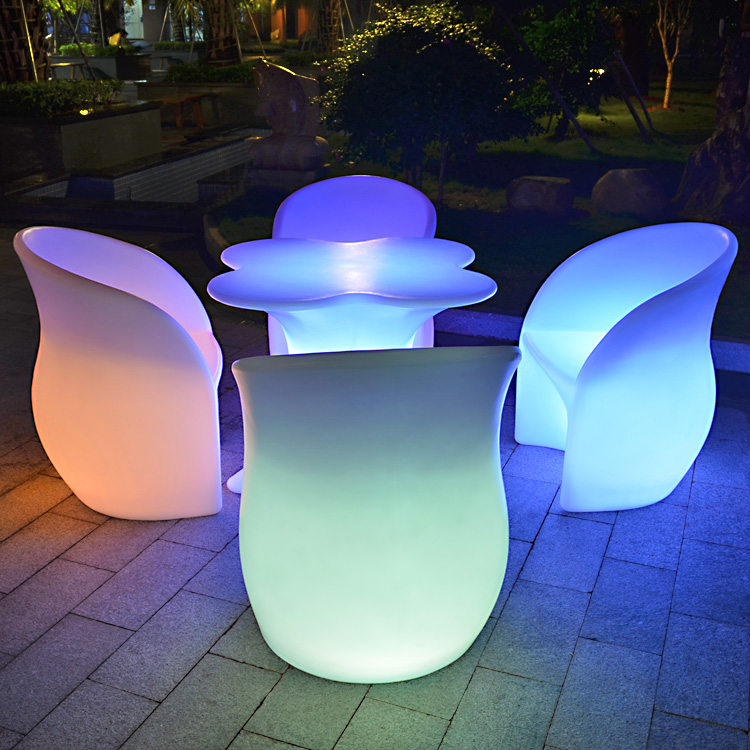 modern led furniture portable luminaire led table rechargeable battery operated glowing led bar table