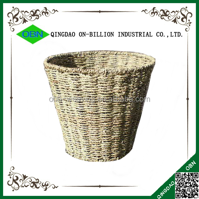 Handmade Basket Companies : Wholesale round waste basket handicraft handmade seagrass