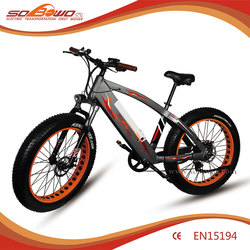 26'' 48V 500W Mountain non-folding Fat tyre Beach electric dirt bike/bycicle/ebike