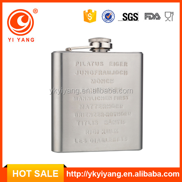 6oz embossed hip flask brand names of white wines