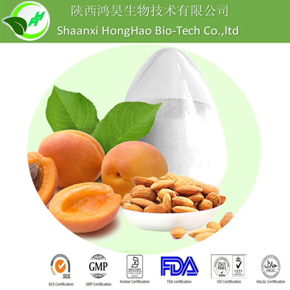 Pure Pesticide Free None GMO 98% amygdalin bitter apricot seed extract from honghao in china