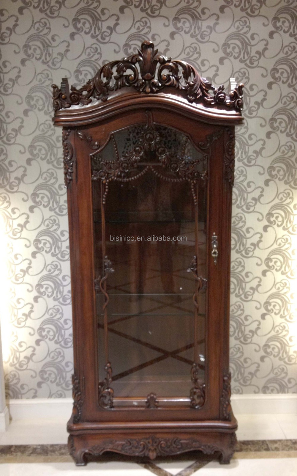 American Style Wooden Show Cabinet Showcase Luxury Hand