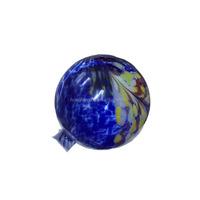 Blue glass gazing globes for yard