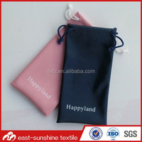 microfiber drawstring camera bag,custom logo microfiber eyewear bag pouch
