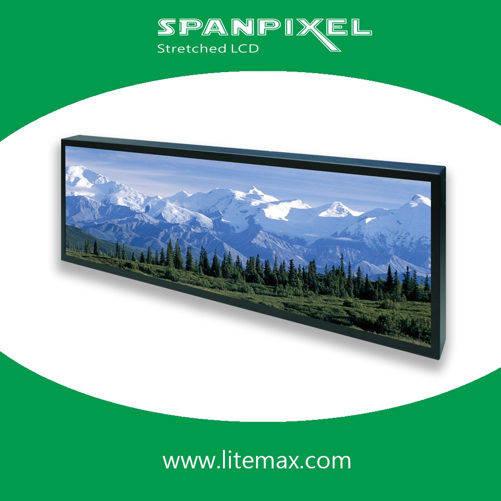 "LITEMAX 38"" Resizing LCD,1000 nits LED backlight, 1920x502 ultra wide aspect ratio 16:4.2"