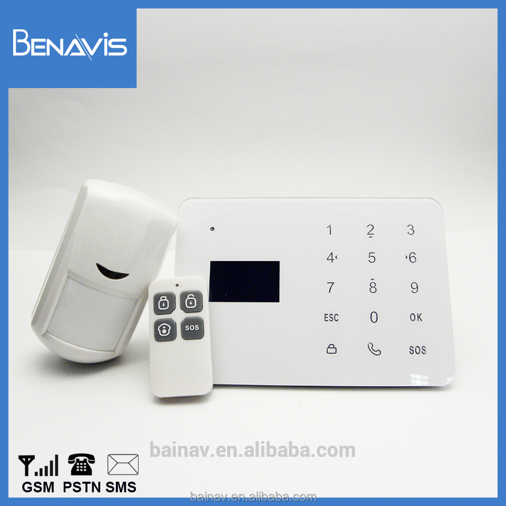 Self Monitoring Emergency Long-Range Gsm Module Wireless Alarm System