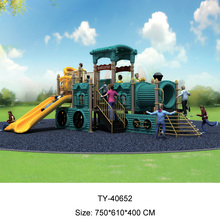 Delicate train plastic outdoor slides with CE certification
