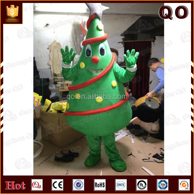 Best selling custom size Christmas tree mascot costume for sale