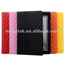 Tablet case cover diamond sheep skin pu leather case for ipad 2 3 4 air mini