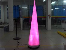 inflatable events decoration cheap led air cone factory