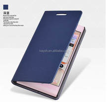[kayoh] flip leather business card case branded phone cases cover for huawei ascend mate 8 leather case
