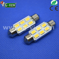 hotsale superbright 5630 samsung 6smd auto tuning led 36mm 39mm 42mm led car lighting C5W