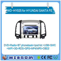 WISDOM Android 4.4.4 car dvd player for HYUNDAI SANTA FE 2006-2012 audio radio gps navigation multimedia system