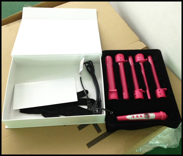 best private label wand hair curler iron ceramic hair curling wand 5 in 1set