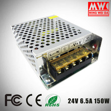 ac dc power supply 24V 6.5A 150W regulated power supply S-150-24 with factory price