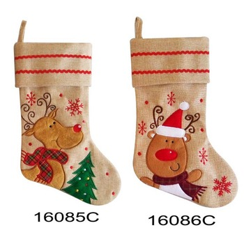 Red Personalized Cute Reindeer Animal Christmas Stocking