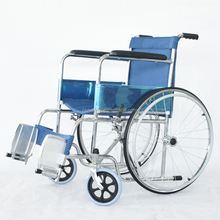 Blue livery Chrome plating wheelchair for disabled