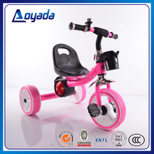 Lovely mini child tricycle for sale / CE, EN71 approvaled tricycle kids with music and light