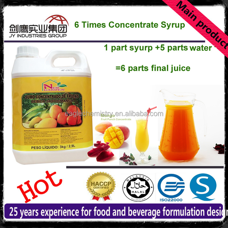 2017 New Product Mango Flavor Concentrate Slush Syrup For Bubble Tea Juice
