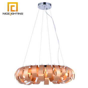 NICE lighting luxury large modern pendant lamp material iron aluminum color chrome gold chandelier