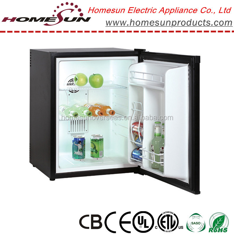 65L thermoelectric low noise hotel mini fridge with CE approval