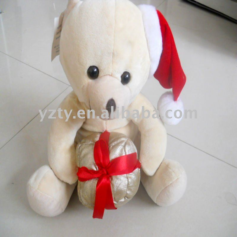 Plush animal bear for Christmas
