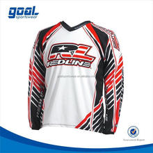 100% polyester economic motocross top and jersey