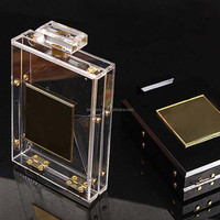 JA-HB-127 Wholesale acrylic box clutch with metal frame supplies