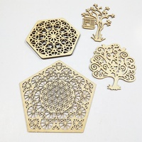 Wooden Carved Shaped Art Ornaments Wood Icons Carving Patterns Christmas tree