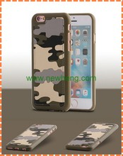 New cool ultra slim camouflage pu back cover case for iphone 6s