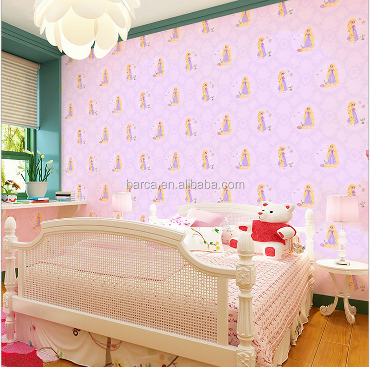 Tangled movie wallpaper for kids bedroom deco