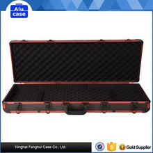 Aluminum black carrying top quality handy cheap gun cases