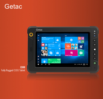 "Getac EX80 8"" fully rugged outdoor IP67 tablet PC Win10 pro"