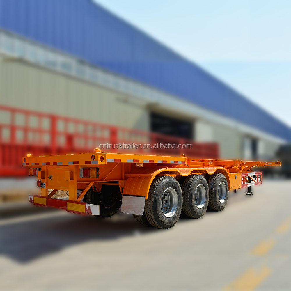 40feet 3 Axle Frame Semi Skeleton Cargo Container Truck Trailer