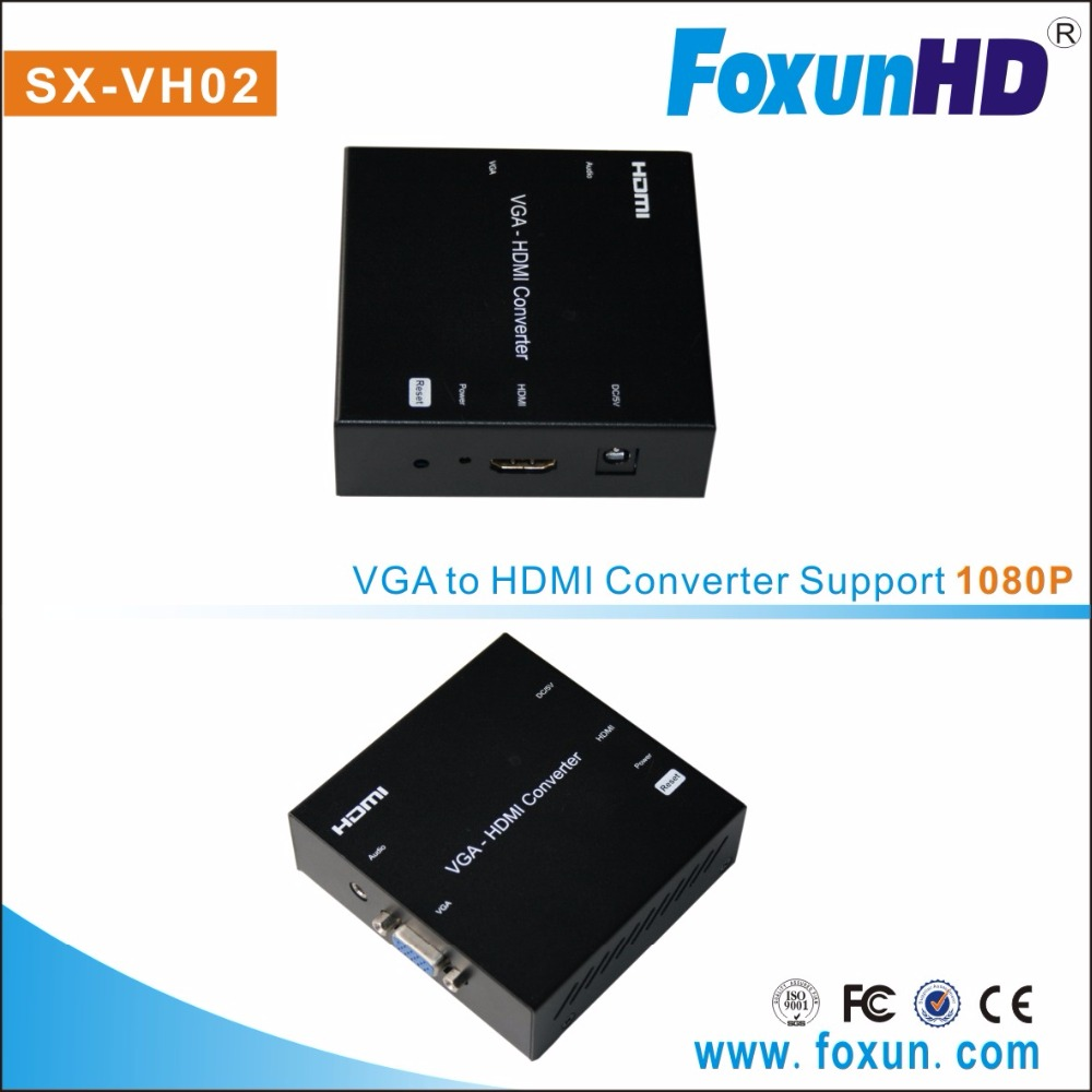 SX-VH02 VGA to HDMI converter ,support 1080p Video Converter/Adapter VGA to hdmi