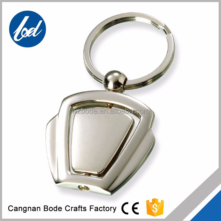 Cheap Custom rotating souvenir metal Keychain, Blank Key chain