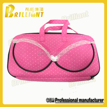 High protective fancy eva bra travel case in custom design
