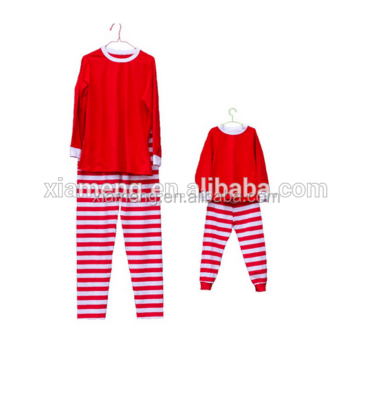 2016 China Alibaba wholesale family christmas kids pyjama sets