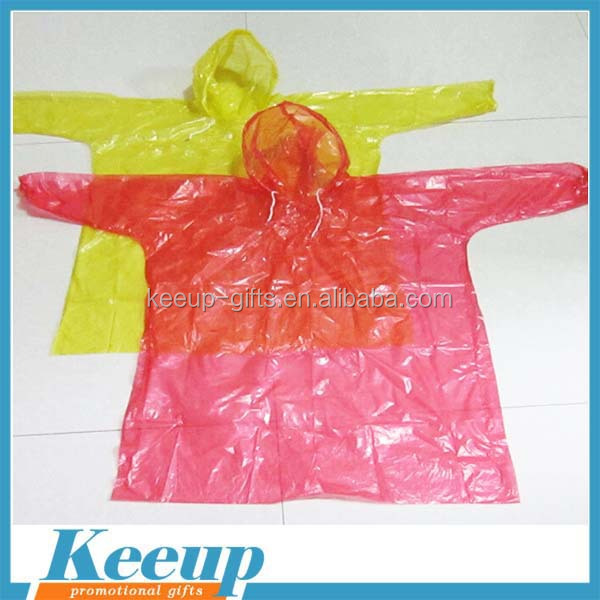 Promotion Cheap PVC Folding Rain Poncho/adult raincoat