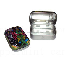 Best selling rectangular candy mints tin box with hinge lid mint tin box for export