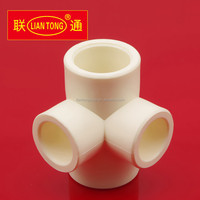 Liantong Plastic PPR cubic cross manufacture, PPR plastic pipe fittings made in china