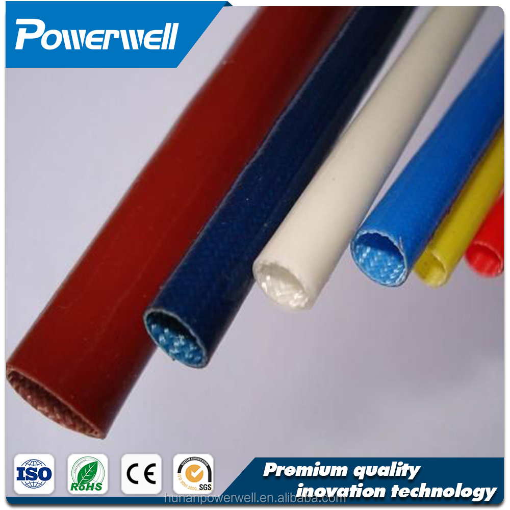 High temperature silicone rubber coated braided fiberglass sleeving,high temperature fiberglass sleeving