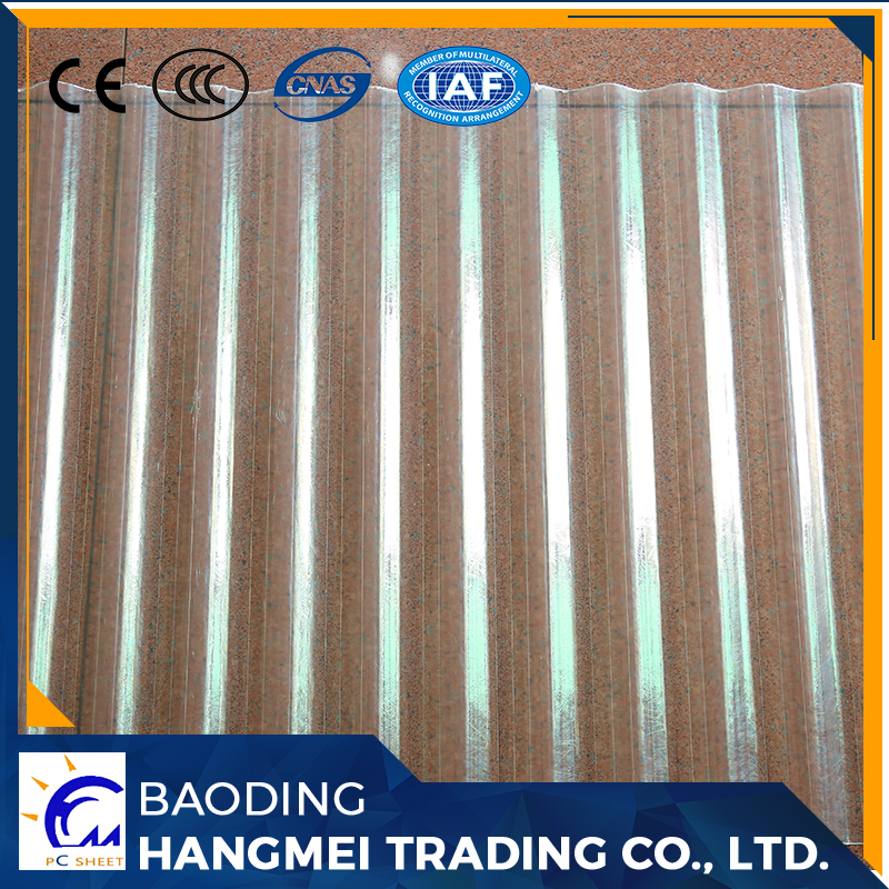 transparent roofing clear corrugated polycarbonate sheets