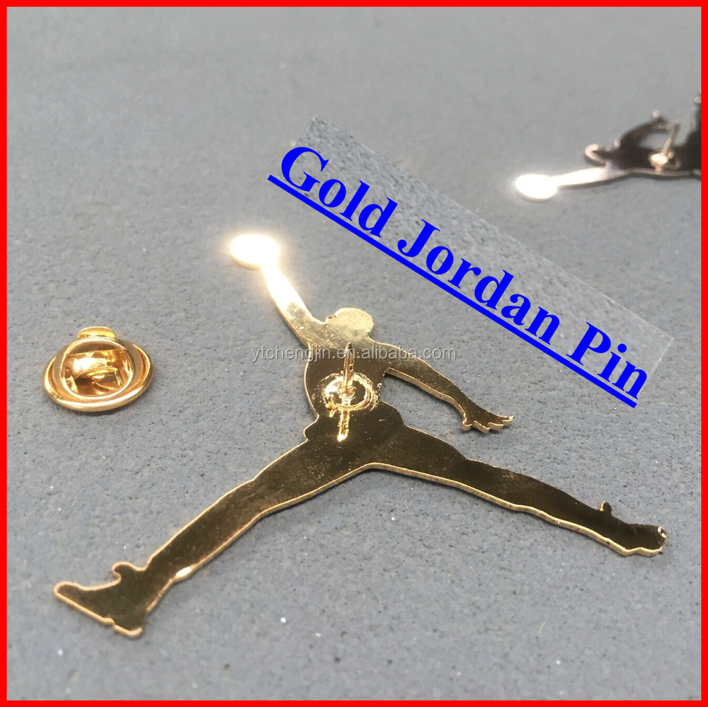 Decorative silver jordan pins for aj shoes
