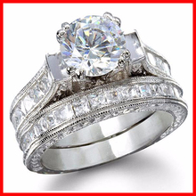 2016 new arriveed fashion cubic zirconia factory wholesale brass wedding ring