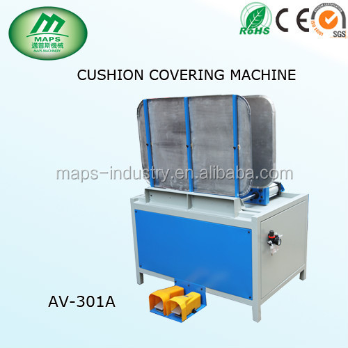 Maps small cushion covering machine AV-301A, reducing labor and cost